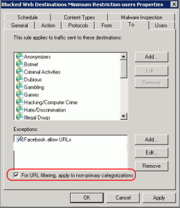 Customizing Website Categories with Forefront TMG URL Filtering