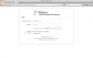 Forefront TMG Mobile Friendly Authentication Form On Desktop