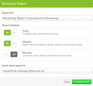 Scheduled Reports