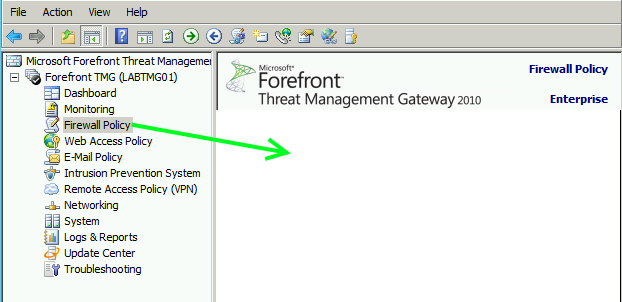 How To Recover Forefront TMG From a Corrupt Configuration