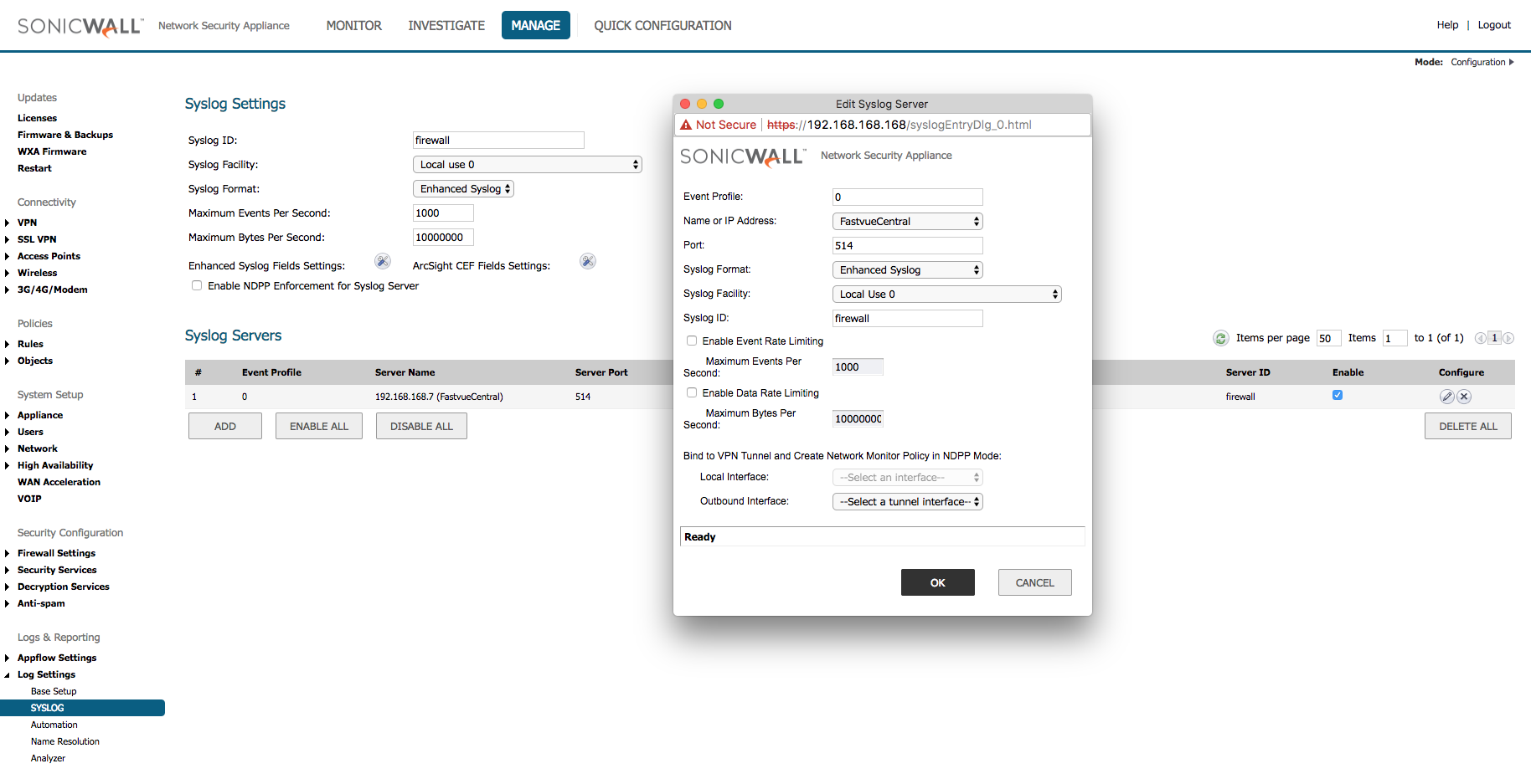 How To Configure SonicWall Logging and Reporting