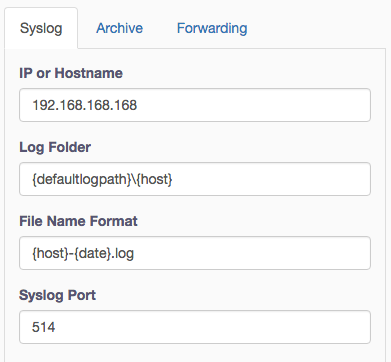 Fastvue Syslog Server Editing Syslog Options