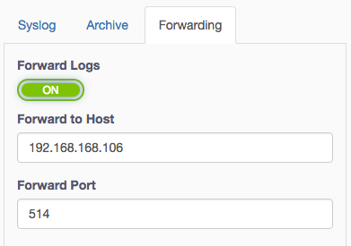 Fastvue Syslog Server Editing Syslog Forwarding Options