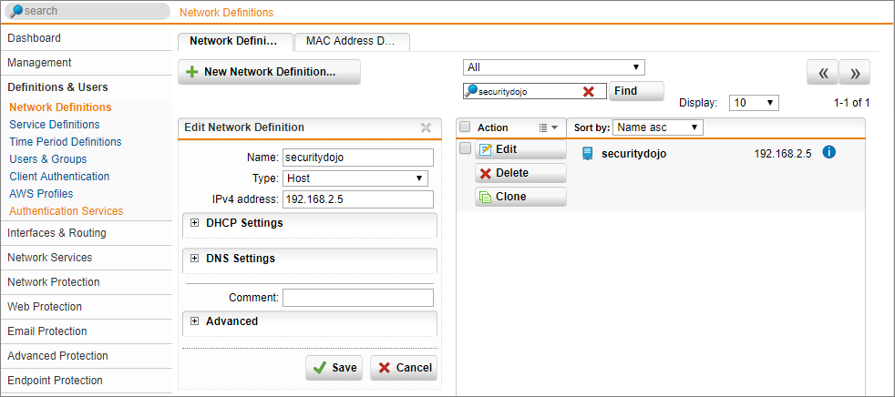 Sophos SG Web Application Firewall