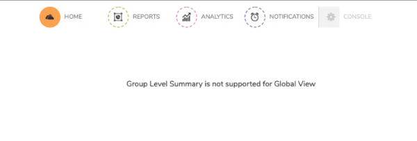 SonicWall Analytics Group Level Summary Not Available In Global View