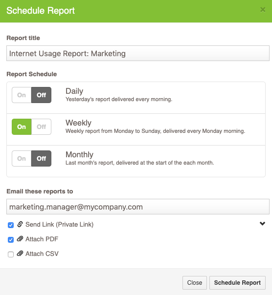 Fastvue Reporter - Schedule Reports for Department Managers