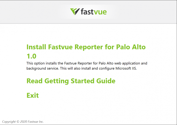 Fastvue Reporter for Palo Alto Installation