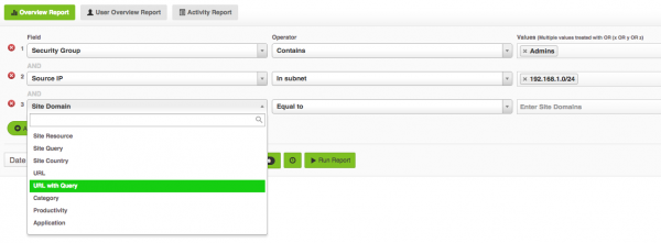 Fastvue Reporter for Palo Alto Advanced Report Filtering