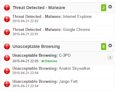 SonicWall Live Alerts
