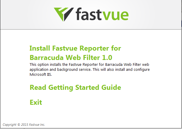 Install Fastvue Reporter for Barracuda