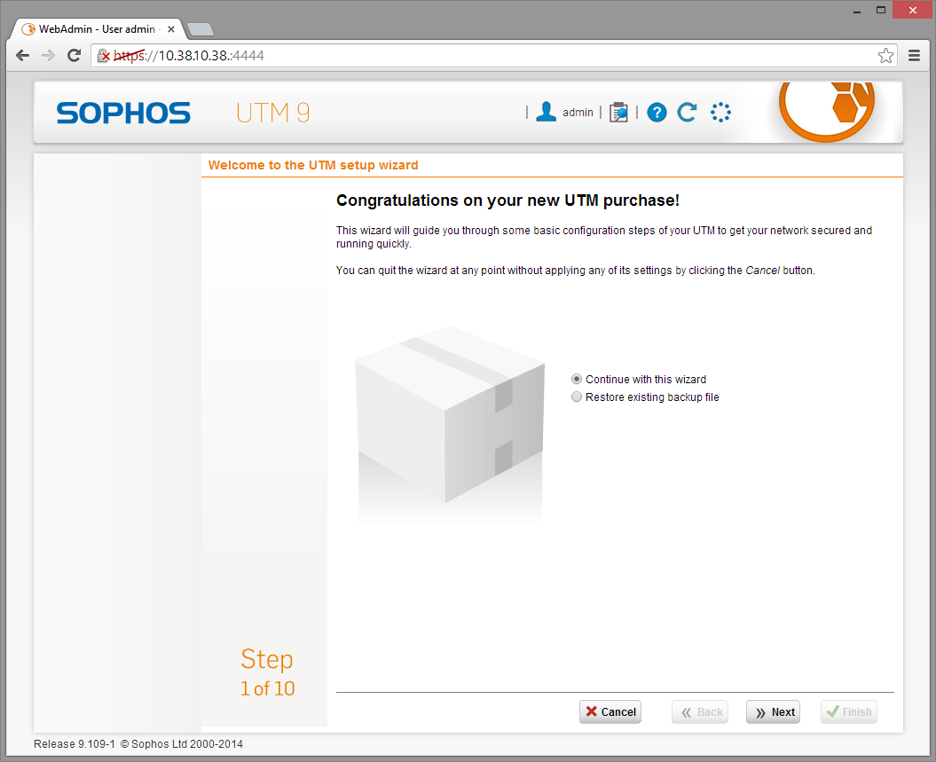 Sophos UTM Deployment - Initial Configuration Wizard 4
