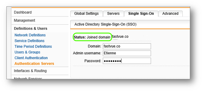 Sophos UTM Single Sign On