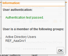 Sophos UTM User Authentication Test