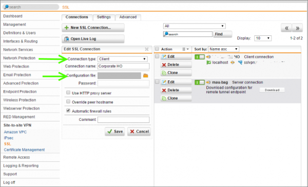 How to Configure Multiple Site-to-Site SSL VPNs with Sophos UTM