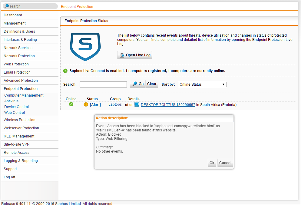Sophos UTM Endpoint Protection and Web Control Explained