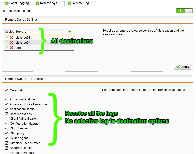 Filtering and forwarding sophos utm syslog data with syslog ng sophos utm syslog options pronofoot35fo Gallery