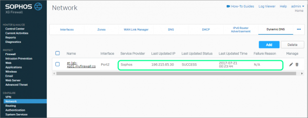 How to Configure Sophos XG's Free Dynamic DNS Service