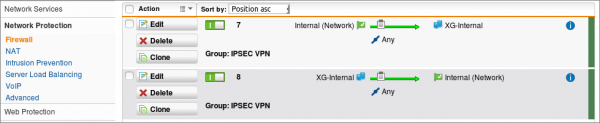 UTM to XG IPSec site-to-site VPN