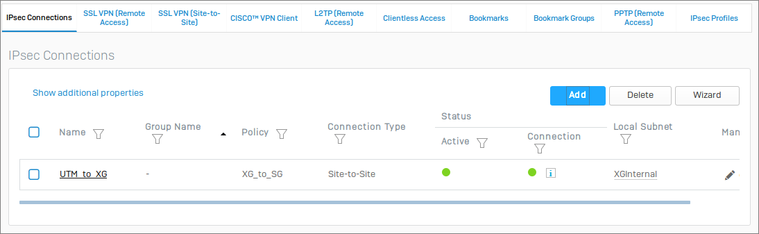 Configuring a Site-to-Site VPN Between Sophos UTM (SG) and Sophos XG