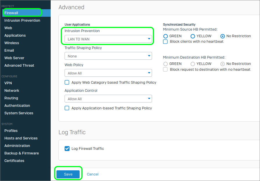 Improving the Performance of Sophos XG's Intrusion Prevention System